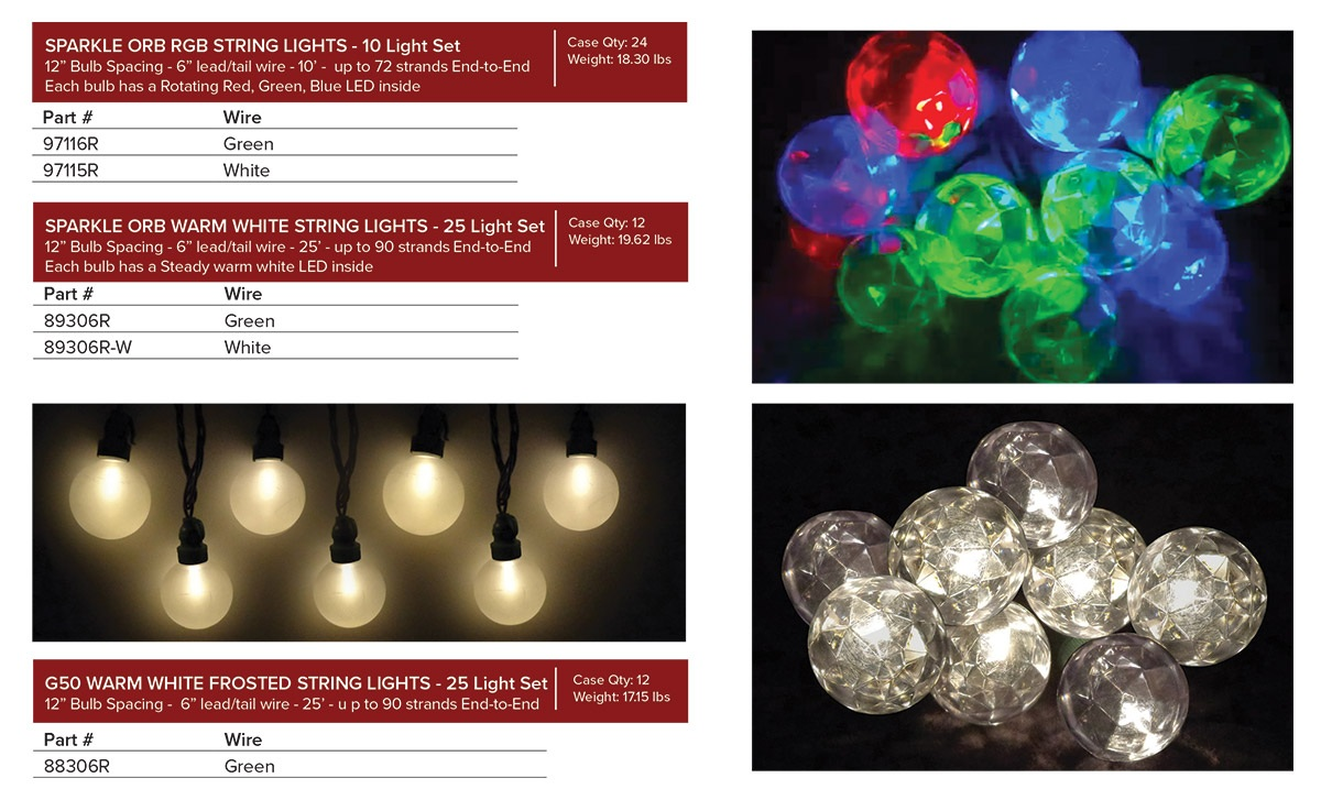 Sparkle Orbs u0026 Frosted Lights ...  sc 1 st  Silver Creek Supply! & Holiday Lighting - Silver Creek Supply LLC
