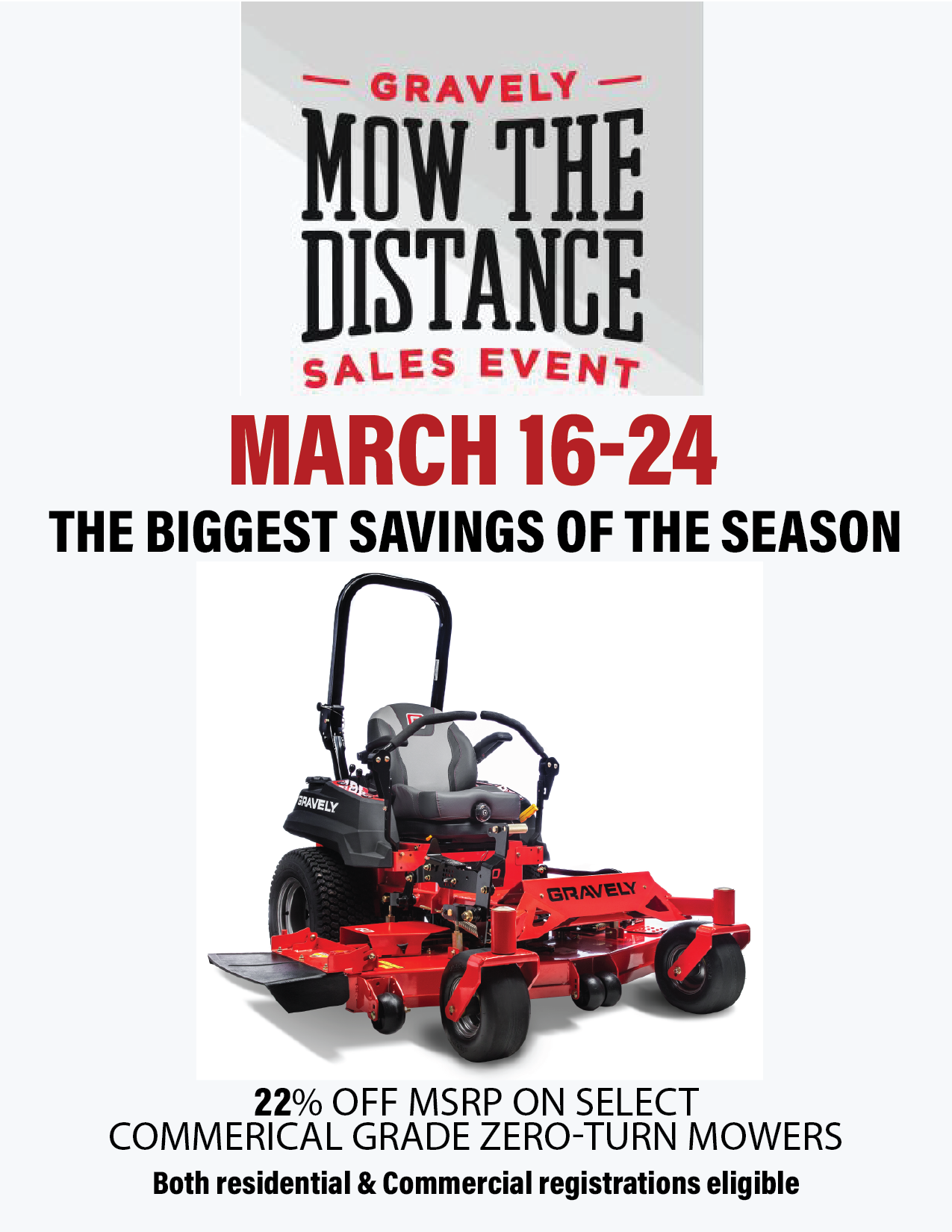 Gravely Mow The Distance Sales Event